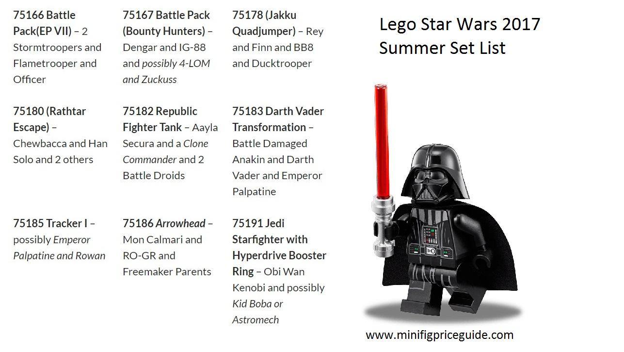 Lego Star Wars 2017 Summer Set List With Minifigures Minifigure 75186 Starwars The Arrowhead And