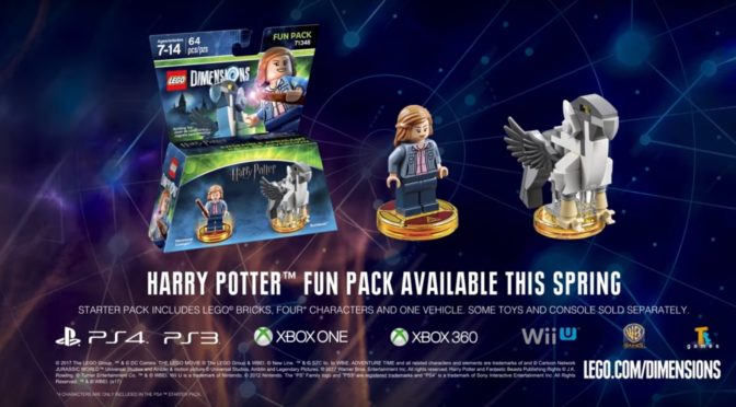 FIrst look at Lego Dimensions Hermione Granger Fun Pack 71348 with Brick Built Buckbeak