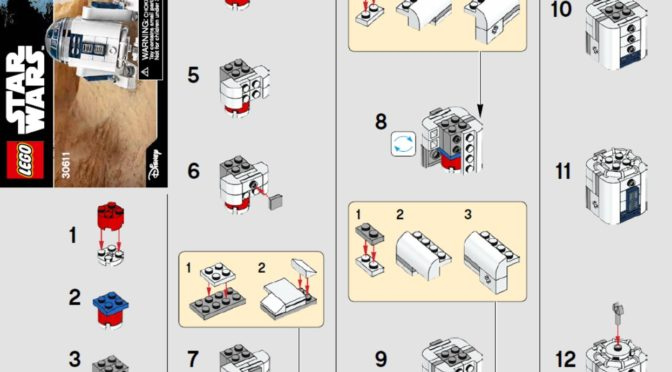 Lego 30611 R2 D2 Building Instructions Posted Online Minifigure