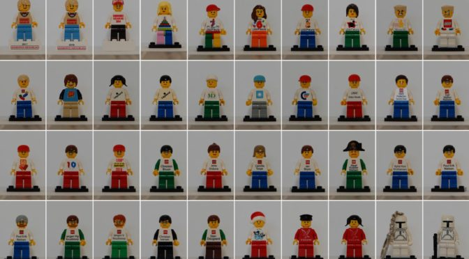 A reader is selling a large collection of Exclusive Rare and Hard to find Minifigures including quite a few Employee Business Card Figures