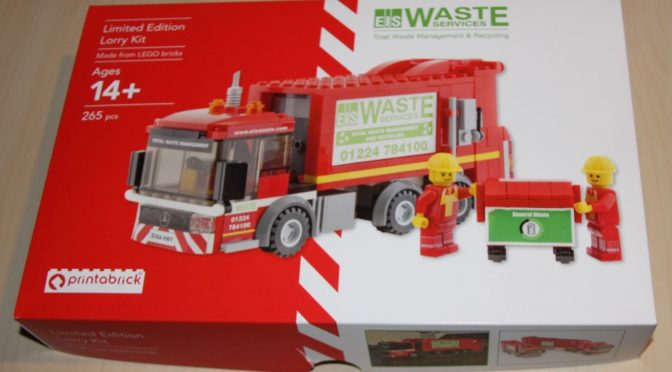 Lego EIS Waste Services Limited Edition Lory Kit is limited to 50 sets worldwide