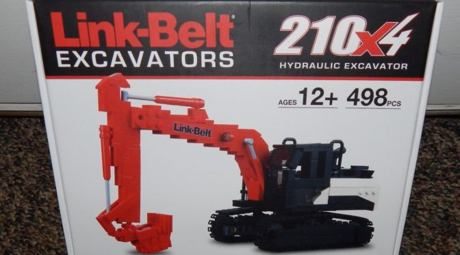 Lego Certified Professional Link Belt Excavator by Mitsui Brick