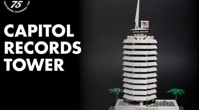 LEGO CAPITOL RECORDS TOWER BUILDING SET MADE BY ADAM WARD