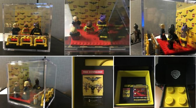 Lego Batman Movie Promotional Minifigure box sent out to the members of the HFPA for Golden Globes