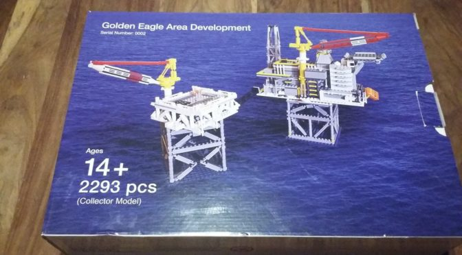 Lego Certified Professional BRIGHT BRICKS Rare Collectors Model Golden Eagle Area Development OIL RIG Platform