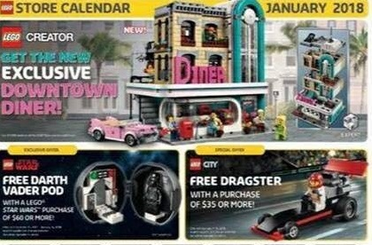 Lego 10260 Exclusive Downtown Diner Confirmed in the January 2018 ...