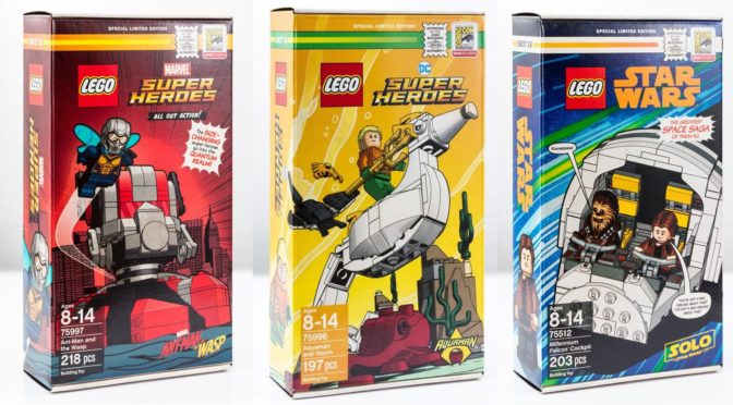 Lego SDCC 2018 Exclusive Set Promotions 75997 75996 75512 with