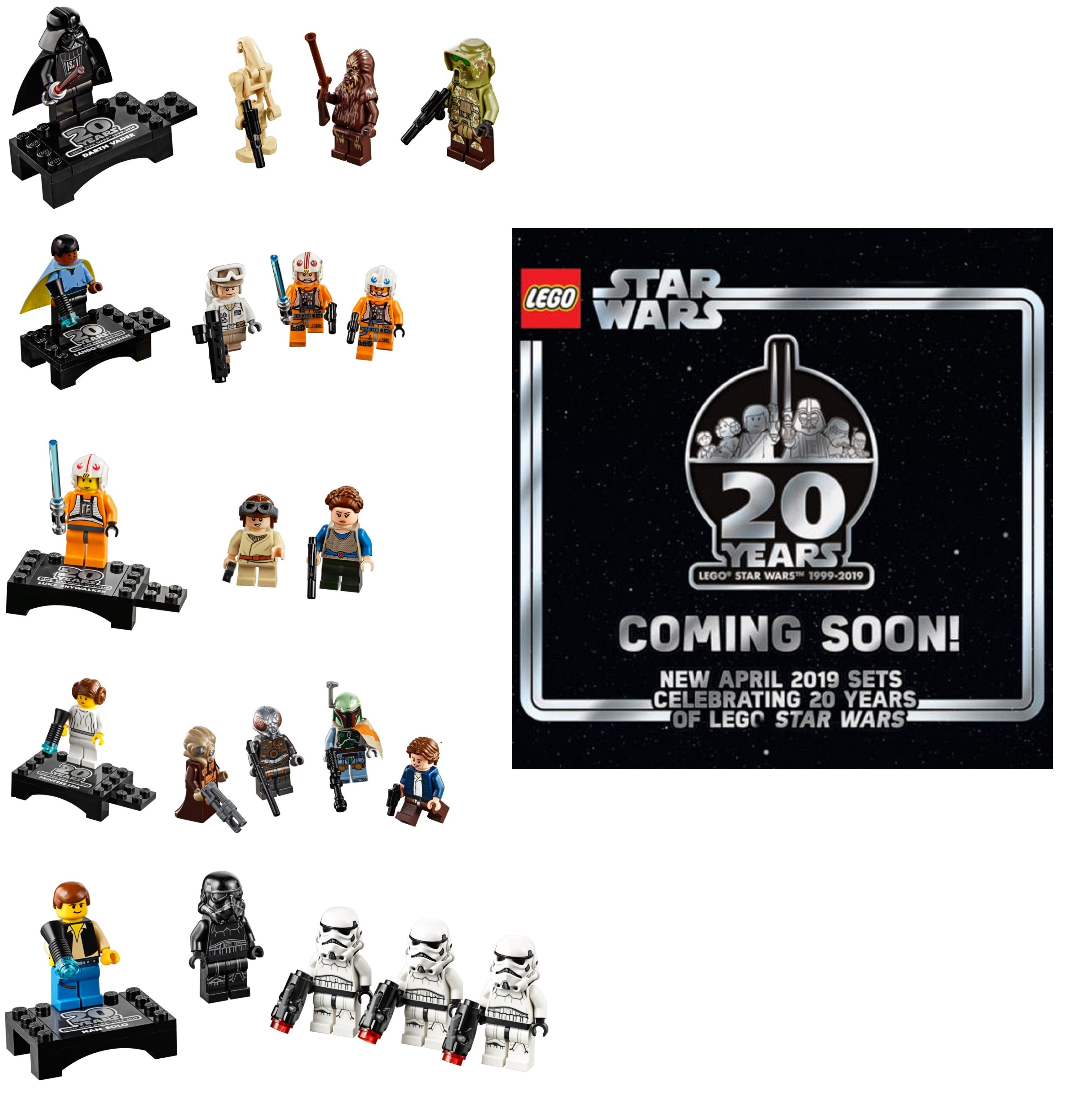 Lego Star Wars 20th Anniversary Commemorative Minifigures Announced
